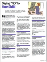 Saying+No+to+Your+Child+tip+sheet