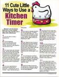 E138 Cute Ways to Use a Kitchen Timer