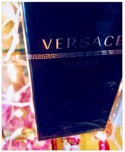 Versace L'homme for men. This one is super sexy! We only get the really pleasing scents in POMP! POMP Paul wears this one and the Guess seductive and they are both so wonderful! Hard to choose! Get both! This has warm green undertones. Citrus, lavender and very masculine ! 3.4 oz