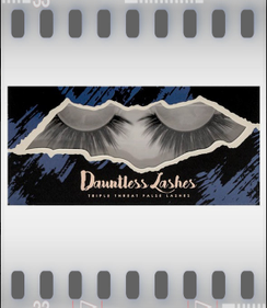 Dauntless Lashes in DAUNTLESS- New 3D synthetic mink lashes design add's volume and depth to natural lashes for that extra oomph! Checkout all the styles! Lashes do not come with adhesive. we recommend you use your favorite