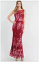 High Neck Floral Embroidered Long Dress. 100% poly. This is a one of a kind find! Only 3 in stock!! From Niki Biki Hollywood