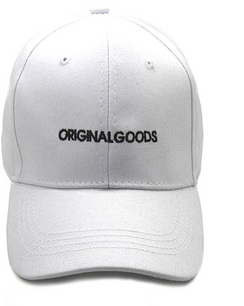 Original Goods ! Ball cap. Cotton in white . Available in black - See black