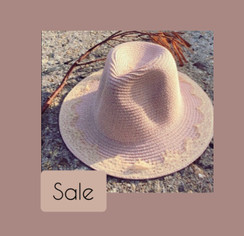Lace edge detail woven /straw  fedora hat