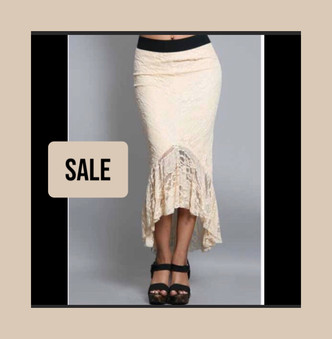 Lace stretch  skirt . Made in USA.  shipped from Hollywood to POMP, to you!