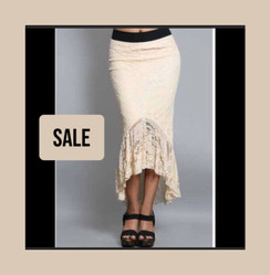 Lace stretch  skirt . Made in USA.  shipped from Hollywood to POMP, to you! FREE GIFT WITH PURCHASE!