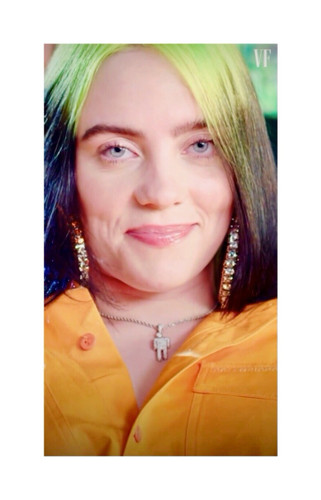 """Click on to see the Billie Eilish inspired earrings we found for you! Very limited! Blinged out on gold, lightweight, post and clasp, approx. 4"""" hoops. LOVE THESE!"""