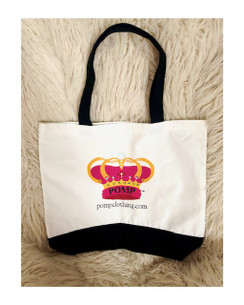 POMP tote bag. Gorgeous canvas tote fits everything!  durable fabric will last! FREE earrings with purchase