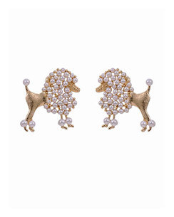 Posh POMP'd poodle earrings! These are Boujee in the most fabulous way! wear them dressy or to dress up ANY outfit! Great with jeans and a cami!