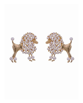 Posh POMP'd poodle earrings! These are Boujee in the most fabulous way! wear them dressy or to dress up ANY outfit! Great with jeans and a cami! FREE BLING BRACELET WITH PURCHASE! click through to see photos
