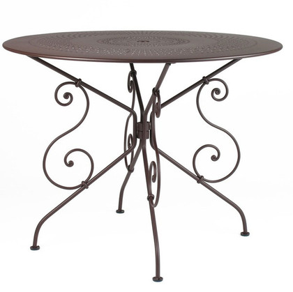 "The 1900 38"" table shown in liquorice."