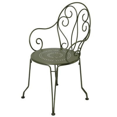 The Bugey Arm Chair shown in liquorice (black).