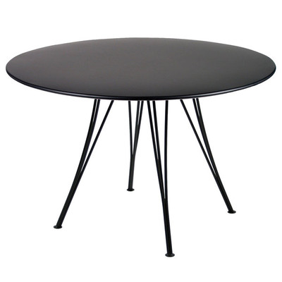 "The Rendez-Vous 43"" table shown in liquorice."