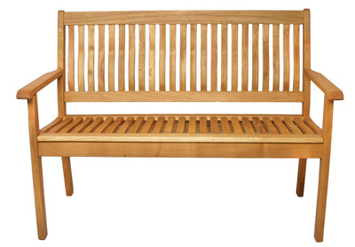 2-Seat Wood Bench