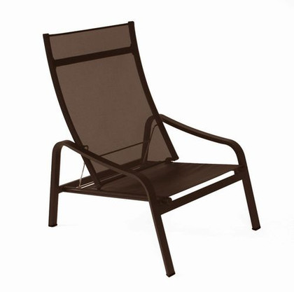 The adjustable, stacking Alize low armchair by Fermob.