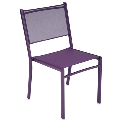 Costa Stacking Side chair shown in plum.
