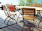 Rebecca folding chair with Oval table