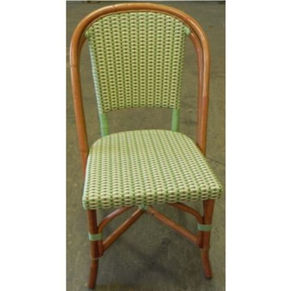 French Rattan Bistro Chair in Lime