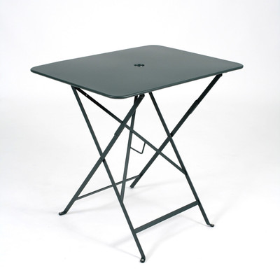 "Bistro Folding 30"" x 22"" rectangle table shown in Cedar Green."