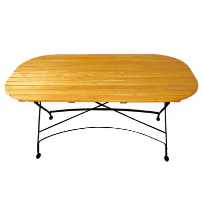 Wood Folding Table for Outdoor Use
