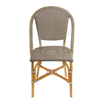 Sofie Side Chair, Cappuccino with White Dots