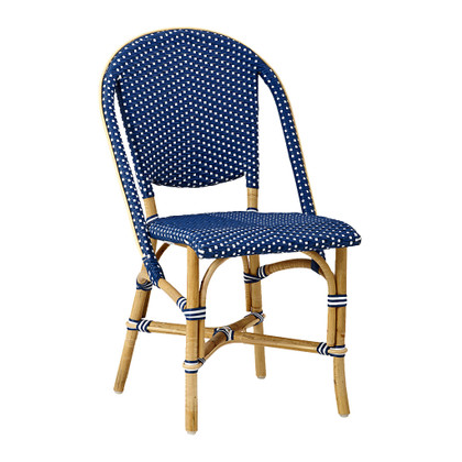 Sofie Side Chair, Navy Blue with White Dots
