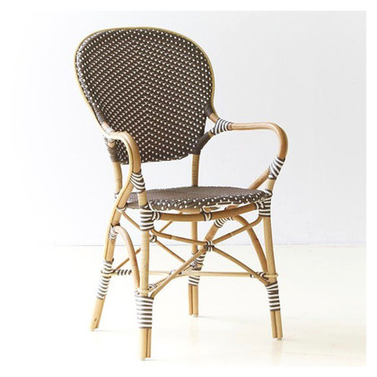 Isabell Arm Chair, Cappuccino with White Dots