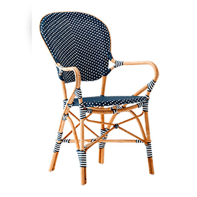 Isabell Arm Chair, Navy with White Dots