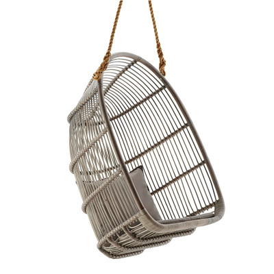 Renoir Hanging Chair, Taupe Grey