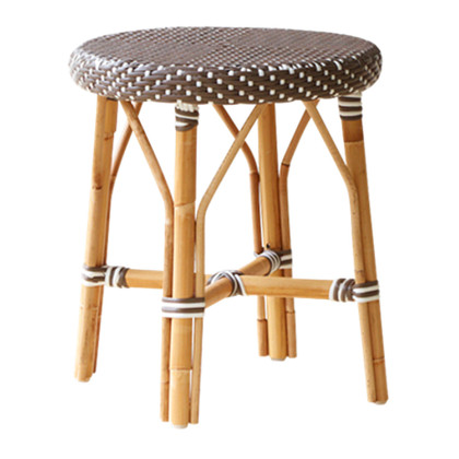 Simone Dining Stool, Cappuccino with White Dots