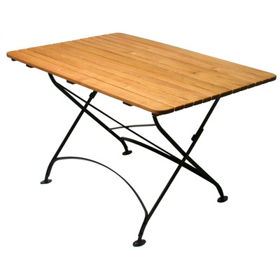 Foldable Rectangle Wood Table