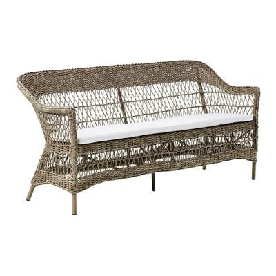 Charlot 3 Seater Sofa with White Cushion