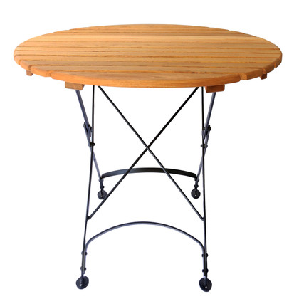 Foldable Round Wood Table