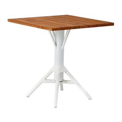 Nicole Cafe Table with Square Teak Tabletop 70cm
