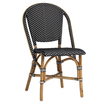 Sofie Side Chair, Black with White Dots