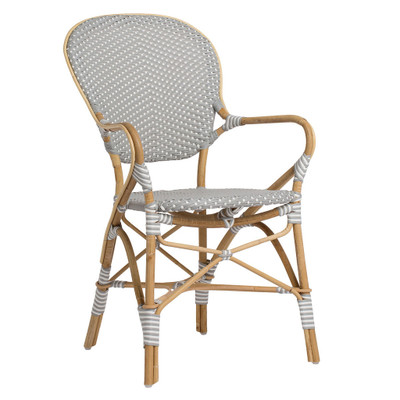 Isabell Arm Chair - Grey with white dots
