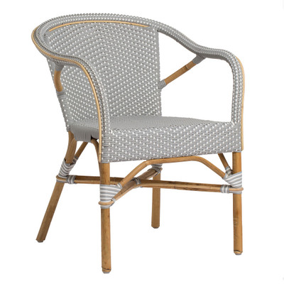 Madeleine Arm Chair, Grey with White Dots