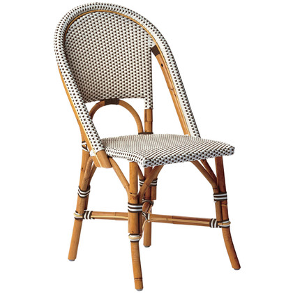 Sophie Side Chair White with Cappuccino Dots