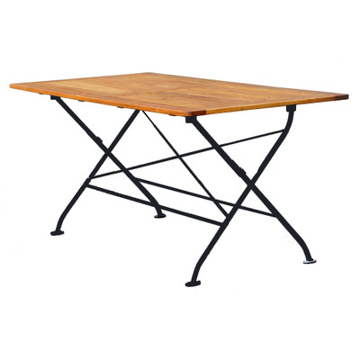 Felicia Folding Rectangle Table w/Solid Top