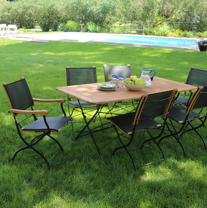 Folding Table and Arm Chairs