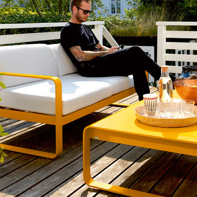 Bellevie low coffee table - Honey