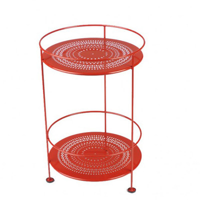 Double Top Table in Poppy