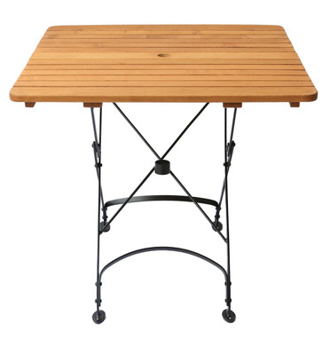 "Rebecca Folding 27.5"" Sq. Table w/Umbrella Hole"