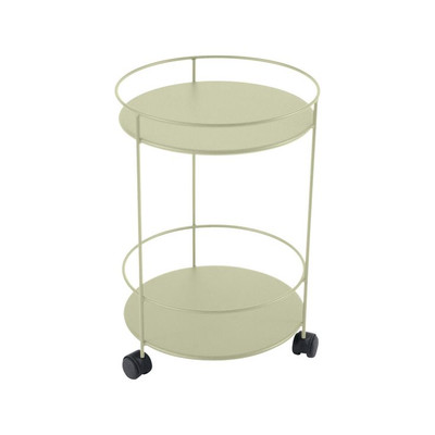 Rolling double top table in Willow