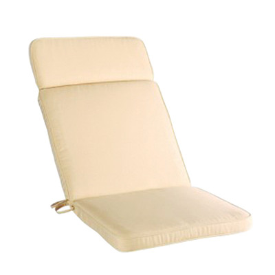 Riviera seat cushion in vanilla