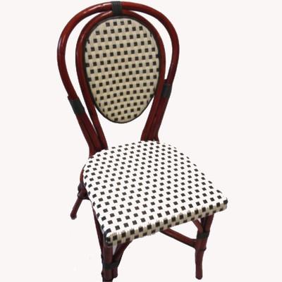 Parisian Rattan Chair - Ivory/Green