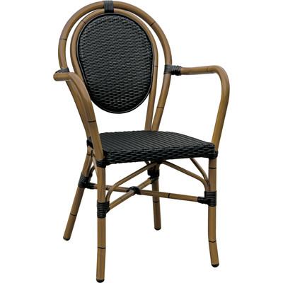 Paris Armchair – Aluminum Black/Mocha (Set of 2)