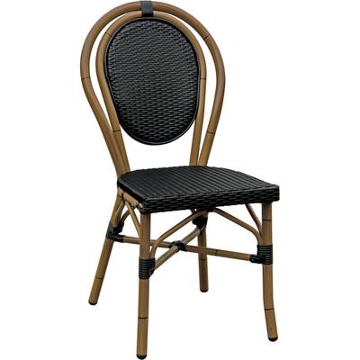 Paris Side Chair - Aluminum Black/Mocha
