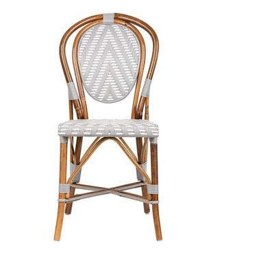 Parisian Rattan Chair - Chevron Grey (Set of 2)