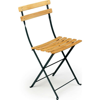 Folding Naturel Chair Chairs - Set of 2