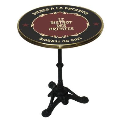 Bistrot des Artistes enamel top Bistro table